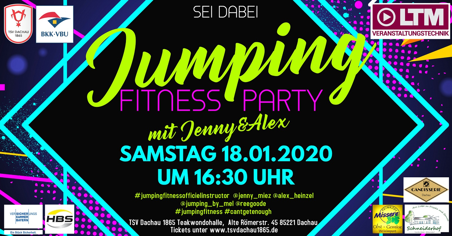 TSV Dachau 1865 Jumping Fitness Party Sponsoren